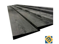 Black Feather Edge Boards Fence Panels Cladding Treated Timber Fencing Boards