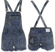 Ladies Denim Short Dungarees