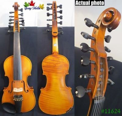 "Baroque style SONG Brand master 6×6 strings 14"" Viola d'Amore ,rich tone #11624"