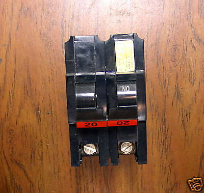 Federal Pacific Circuit Breakers 20A Type NA Used 2Pole