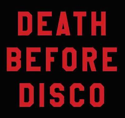 Death Before Disco  Vintage 1970's Style  Travel Decal  sticker - 1970 Disco Fashion