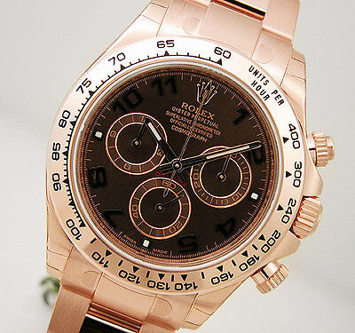 Rolex Cosmograph Daytona 116505 Everose Gold Oyster Chocolate Arabic Dial 40mm