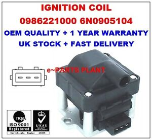 AUDI VW GOLF MK3 POLO Ignition coil 6N0905104 0986221000 12916 (1st delivery)