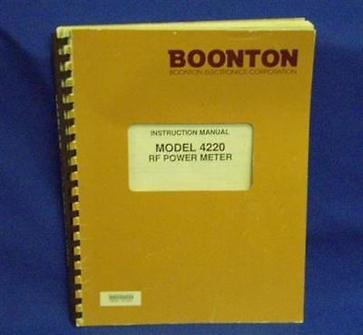 Boonton 4220 Rf Power Meter Instruction Manual