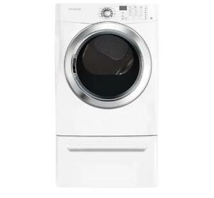 "Frigidaire CFSE5115PW 7.0 Cu.Ft Electric Dryer featuring Ready Steam  27"" W-Brand New(MP_29)"