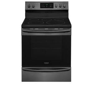 FRIGIDAIRE RANGE 30ELECTRIC RANGE BLACK STAINLESS STEEL CGEF3037TD  (AD 46)