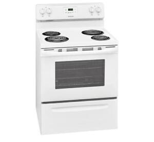 Brand New - Frigidaire CFEF3016TW Range Electric Range 30 inch Self Clean Coil Burners - Authorised Dealer - $529.99