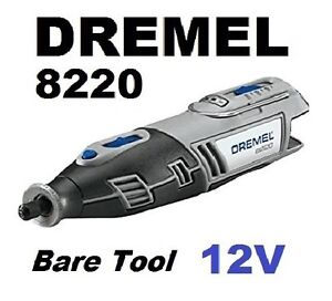 Dremel 12V 12 Volt MAX Cordless Lithium-Ion Rotary Tool 8220 (Refurb-NO Battery)