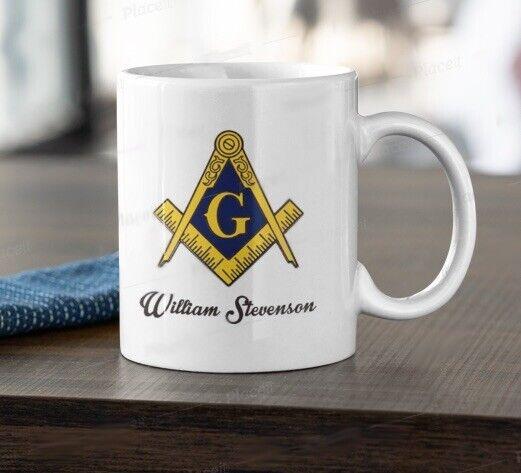 Masonic Freemason Mason Fraternal 11oz Coffee Mug Tea Cup PERSONALIZED