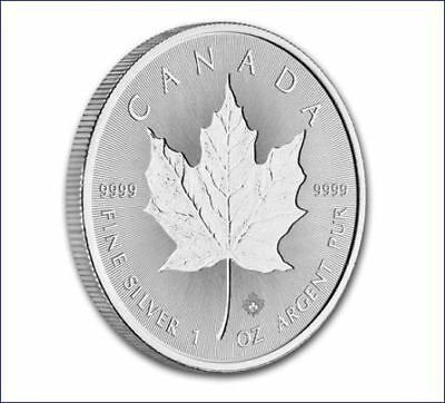 2019 5 CANADA 1 OZ SILVER INCUSE DESIGN MAPLE LEAF NGC MS69 FIRST RELEASE RETRO - $23.49