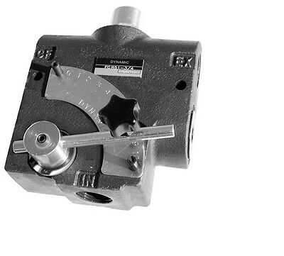 Pressure Compensating Variable Flow Control Valve Sae 8 Port 0-16 Gpm Pi