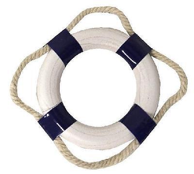 Maritime Deko Mini Rettungsring  Ø: 5 cm blau / weiß, Innen-Ø 3 cm