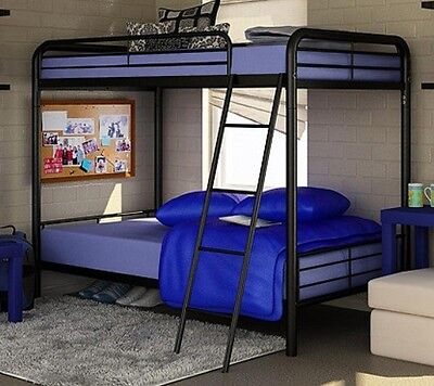 NEW Twin Over Twin Bunk Beds - Black Metal Bed - FREE SHIPPING Black Metal Bunk Bed
