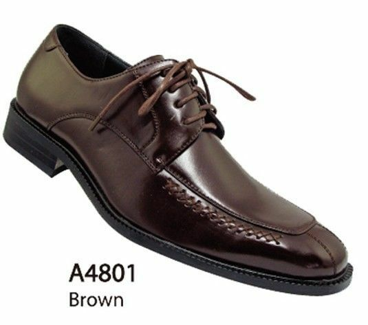 Men's Casual Basic Everyday Work Faux Leather Dress Shoes style-A4801 1