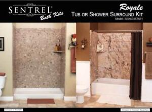 Want a Tile look without the crazy costs? Tub Surrounds..