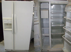 Refrigerators SXS White >>> Durham Appliances Ltd, since 1971 Kawartha Lakes Peterborough Area image 1