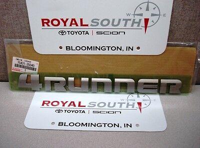 Toyota 4Runner Rear Door Decal Emblem Name Plate Genuine OE OEM