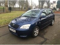 "2002 (52) TOYOTA COROLLA T3 1.6 PETROL 5DR LONG MOT ""FMDSH + DRIVES VERY GOOD + GREAT FAMILY CAR"""
