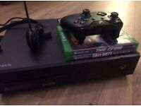 Xbox One 500GB with mic and games