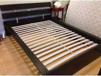 Black/Brown Ikea Hopen Kingsize Bed Frame