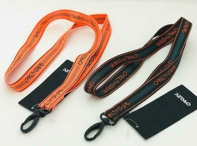 New OAKLEY Grip Lanyard Carabiner Neck Strap Key Chain Id Br