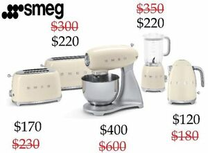SMEG BLENDER TOASTER KETTLE MIXER LOWEST $ IN CANADA