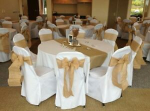 Wedding chair covers (75 covers all white)