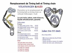 Remplacement timing belt courroie distribution volkswagen audi