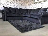 Best FaSTER DELIVERY - New Ashwin Orignal Large PLUSH VELVET Sofa+Designer Arms Full Padded Seats