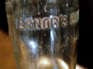 Large clear embossed Vernors bottle $6.00 London Ontario image 2