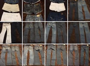 A&F/HOLLISTER/GUESS/MARCIANO/BEBE/R&R/AE 18JEANS & 9SHORTS, $300