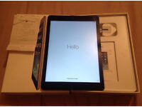 """Apple iPad Air 9.7"""" 32GB Space Grey With Box Receipt And Mains Plug"""