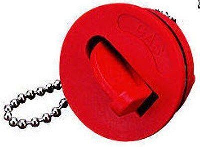 MARINE BOAT DECK FILL CAP RED FLIP KEY HANDLE 1 1/4