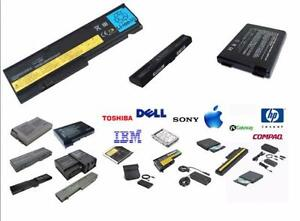 BRAND NEW BATTERIES FOR ALL LAPTOPS HP, LENOVO,DELL,GATEWAY,ACER-SATARTING $29.99 CHARGER-$24.99,UNIVERSAL-39,MAC-$29.99