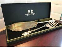 Silverplated Arthur Price Old English Cutlery - Fish Servers (pair). Vintage Jesmond Range