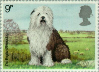 GREAT BRITAIN -1979- Old English Sheepdog (Canis lupus familiaris) - MNH Sc.#851