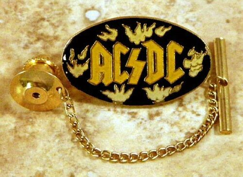 AC/DC Music Group Tie Tack Pin and Chain Clasp