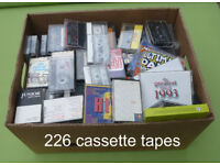 226 Used Cassette Tapes
