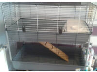 Two Tier Guinea Pig/ Rabbit Cage by Ferplast. Retails for £80 at Pets at Home Only used for a week