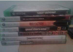 Xbox 360 and Xbox one games