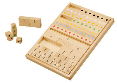 Playful Math Educational Wooden Fractions Learning Set Montessori