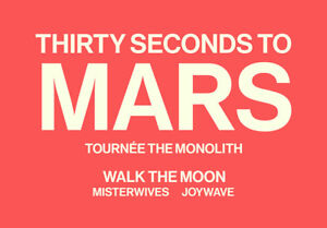 THIRTY SECONDS TO MARS/SECTION 115 ROW M /BELOW COST/SAVE $59.00