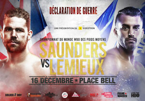 2 Tickets for Lemieux vs Saunders Dec. 16th