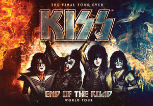 KISS Concert, 3rd Row x2 tickets over 50% discount. Hard tickets