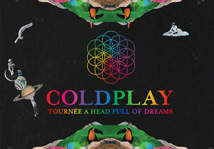 2 Coldplay Montreal Tickets Sec 332 ROW A AUG 9th