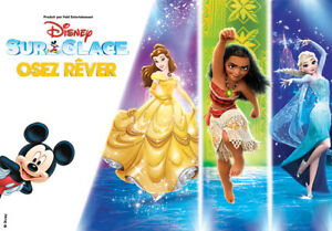 DISNEY ON ICE FLOORS FRONT ROW-DARE TO DREAM-ROW A-