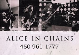 ALICE IN CHAINS : AU MTELUS !!!