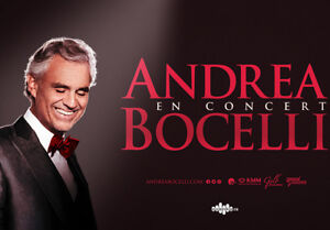 ONE TICKET TO ANDREA BOCCELLI SUNDAY OCTOBER 21ST ROUGE - 140$
