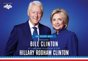 BILL AND HILLARY CLINTON x2 ~ WEDNESDAY NOVEMBER 28th 7:30pm