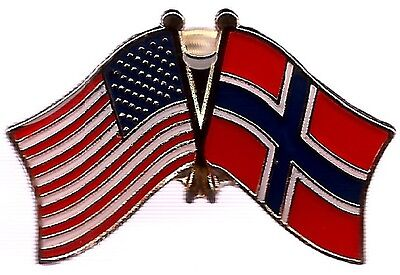 LOT OF 12 Norway Friendship Flag Lapel Pins - Norwegian Crossed Flag Pin